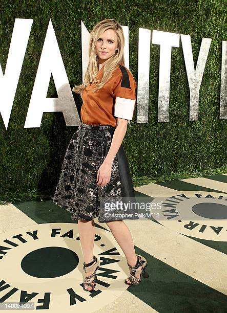 Actress Brit Marling attends the 2012 Vanity Fair Oscar Party Hosted By Graydon Carter at Sunset Tower on February 26 2012 in West Hollywood...