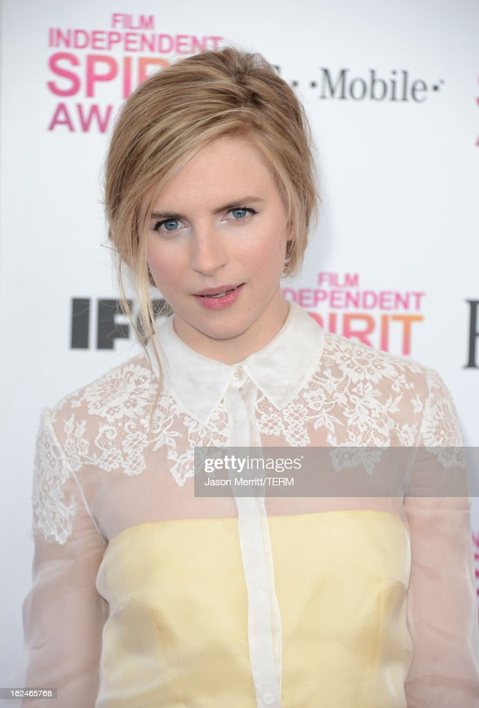 Actress Brit Marling attends the 2013 Film Independent Spirit Awards at Santa Monica Beach on February 23, 2013 in Santa Monica, California.