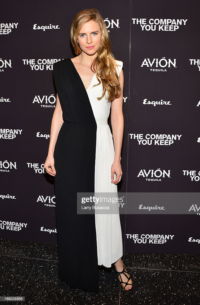 Actress Brit Marling attends 'The Company You Keep' New York Premiere at The Museum of Modern Art on April 1 2013 in New York City