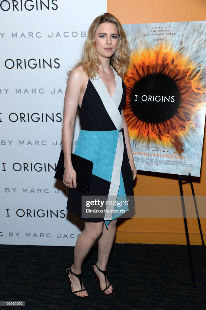 Actress <a gi-track='captionPersonalityLinkClicked' href=/galleries/search?phrase=Brit+Marling&family=editorial&specificpeople=701867 ng-click='$event.stopPropagation()'>Brit Marling</a> attends the 'I Origins' screening at Sunshine Landmark on July 10, 2014 in New York City.