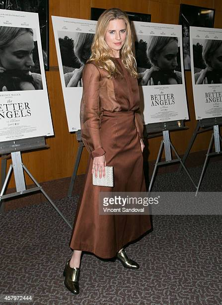 Actress Brit Marling attends the Los Angeles Premiere of 'The Better Angels' at DGA Theater on October 27 2014 in Los Angeles California
