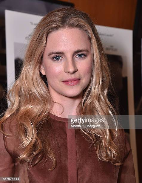Actress Brit Marling attends the premiere of Amplify's 'The Better Angels' at DGA Theater on October 27 2014 in Los Angeles California