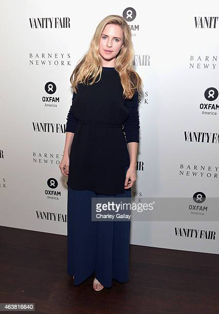 Actress Brit Marling attends VANITY FAIR and Barneys New York Dinner benefiting OXFAM hosted by Rooney Mara at Chateau Marmont on February 18 2015 in...