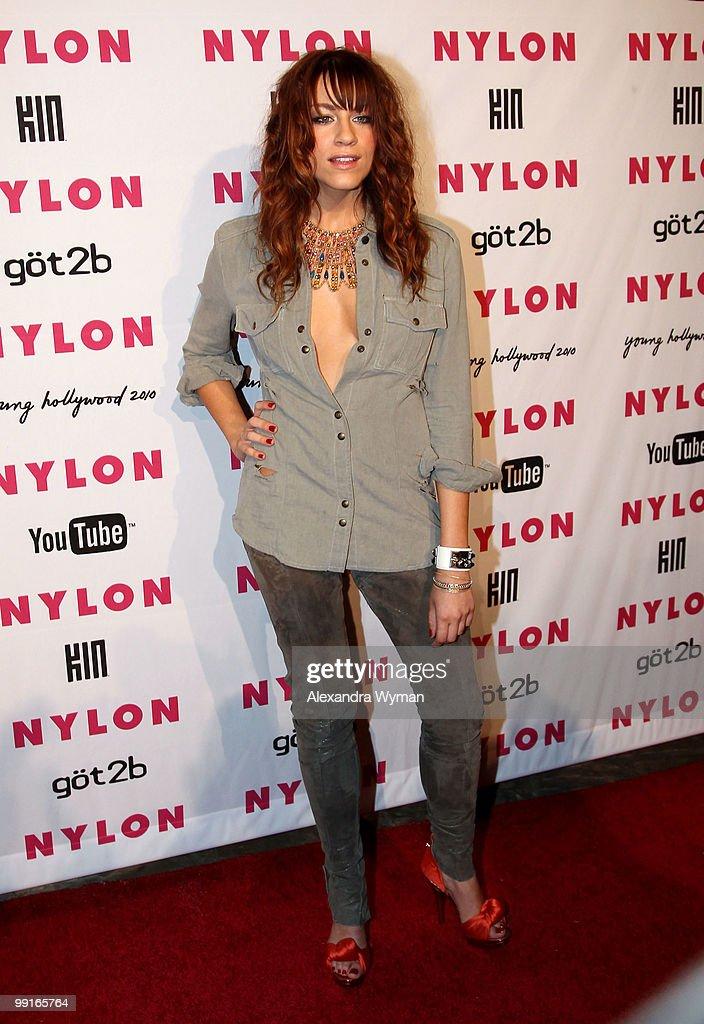 Actress Brit Morgan arrives at NYLON'S May Young Hollywood Event at Roosevelt Hotel on May 12, 2010 in Hollywood, California.