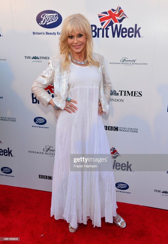 Actress <a gi-track='captionPersonalityLinkClicked' href=/galleries/search?phrase=Britt+Ekland&family=editorial&specificpeople=158089 ng-click='$event.stopPropagation()'>Britt Ekland</a> attends the 8th Annual BritWeek Launch Party at a private residence on April 22, 2014 in Los Angeles, California.