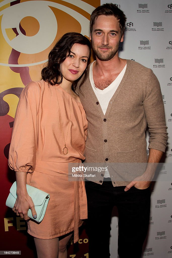 Actress Britt Lower and actor <a gi-track='captionPersonalityLinkClicked' href=/galleries/search?phrase=Ryan+Eggold&family=editorial&specificpeople=4920527 ng-click='$event.stopPropagation()'>Ryan Eggold</a> are arriving to the premiere of 'Beside Still Waters' on October 12, 2013 in Mill Valley, California.