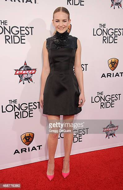 Actress Britt Robertson arrives at the Los Angeles premiere of 'The Longest Ride' at TCL Chinese Theatre IMAX on April 6 2015 in Hollywood California
