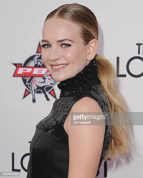 Actress Britt Robertson arrives at the Los Angeles Premiere 'The Longest Ride' at TCL Chinese Theatre IMAX on April 6 2015 in Hollywood California