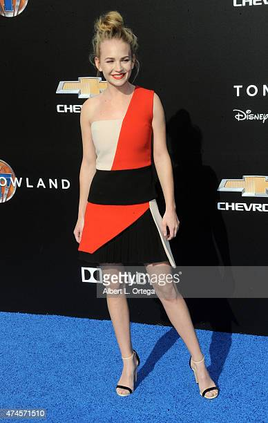 Actress Britt Robertson arrives for the Premiere Of Disney's 'Tomorrowland' held at AMC Downtown Disney 12 Theater on May 9 2015 in Anaheim California