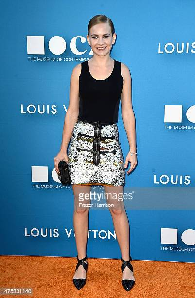 Actress Britt Robertson attends the 2015 MOCA Gala presented by Louis Vuitton at The Geffen Contemporary at MOCA on May 30 2015 in Los Angeles...