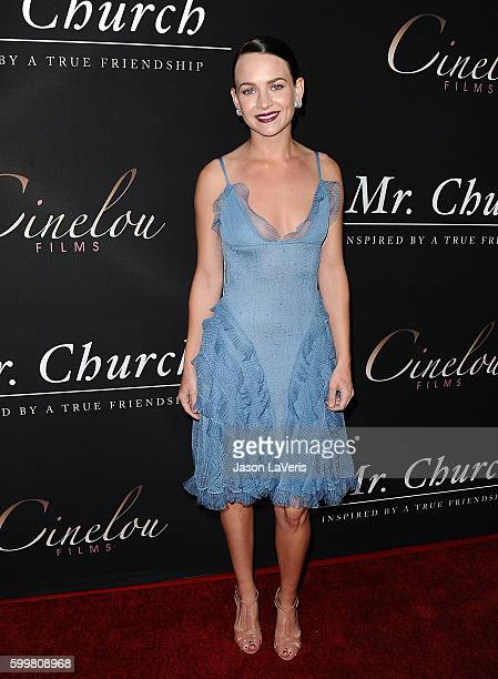 Actress Britt Robertson attends the premiere of 'Mr Church' at ArcLight Hollywood on September 6 2016 in Hollywood California