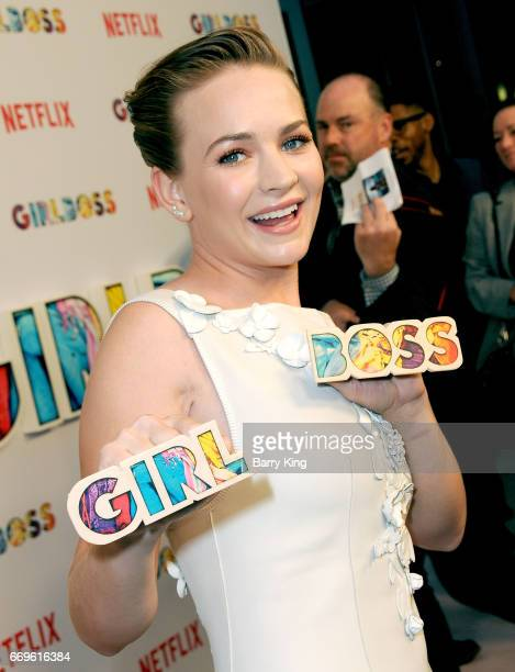 Actress Britt Robertson attends the premiere of Netflix's' 'Girlboss' at ArcLight Cinemas on April 17 2017 in Hollywood California