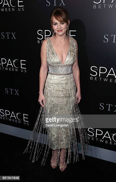 Actress Britt Robertson attends the premiere of STX Entertainment's 'The Space Between Us' at ArcLight Hollywood on January 17 2017 in Hollywood...