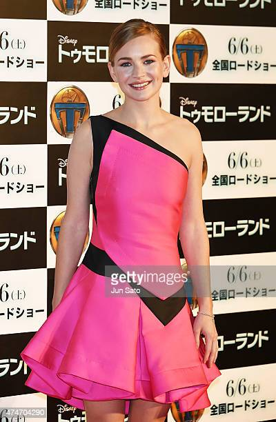 Actress Britt Robertson attends the Tokyo premiere of 'Tomorrowland' at Roppongi Hills on May 25 2015 in Tokyo Japan
