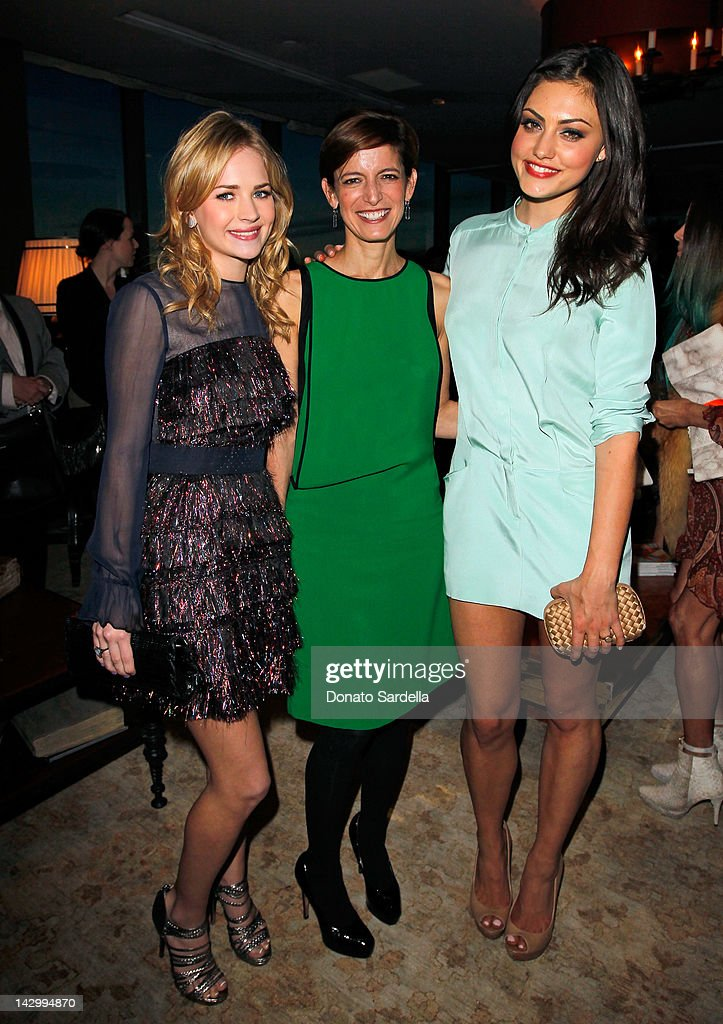 Actress Britt Robertson, Editor-in-Chief, Glamour magazine, Cindi Leive and actress Phoebe Tonkin attend a celebration for Glamour's new book 'Thirty Things Every Woman Should Have and Should Know by the Time She's 30' with Cindi Leive and Rachel Zoe on April 16, 2012 in West Hollywood, California.