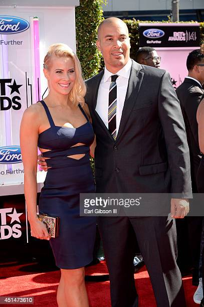 Actress Brittany Daniel and Coby Bell attend the BET AWARDS '14 at Nokia Theatre LA LIVE on June 29 2014 in Los Angeles California