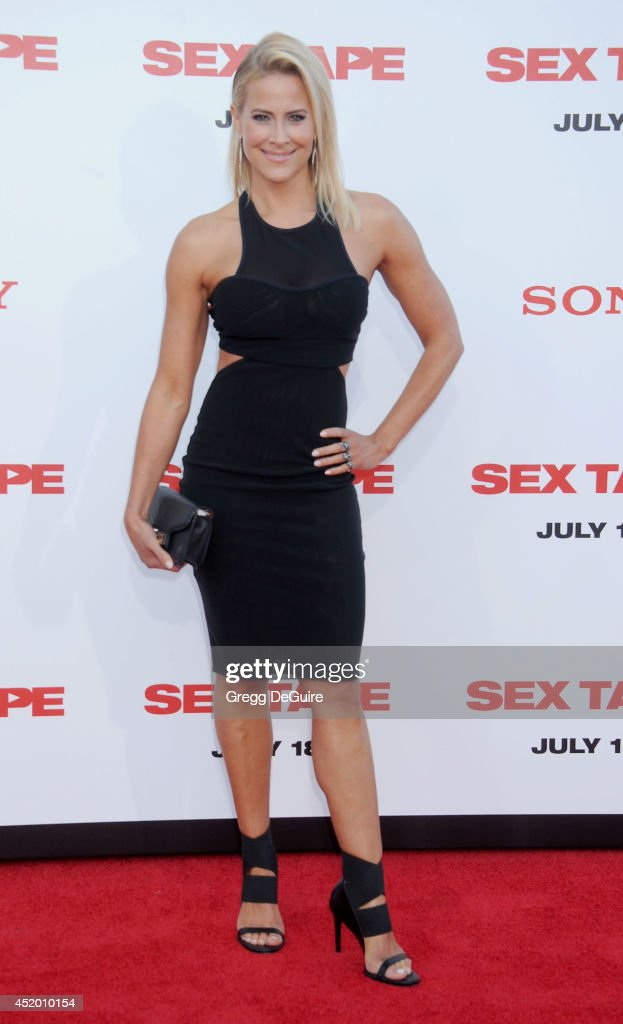 Actress <a gi-track='captionPersonalityLinkClicked' href=/galleries/search?phrase=Brittany+Daniel&family=editorial&specificpeople=211269 ng-click='$event.stopPropagation()'>Brittany Daniel</a> arrives at the Los Angeles premiere of 'Sex Tape' at Regency Village Theatre on July 10, 2014 in Westwood, California.