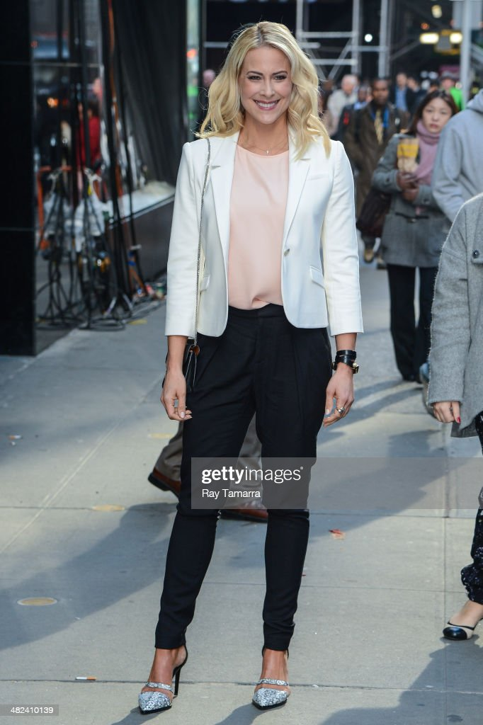 Actress <a gi-track='captionPersonalityLinkClicked' href=/galleries/search?phrase=Brittany+Daniel&family=editorial&specificpeople=211269 ng-click='$event.stopPropagation()'>Brittany Daniel</a> leaves the 'Good Morning America' taping at ABC Times Square Studios on April 3, 2014 in New York City.