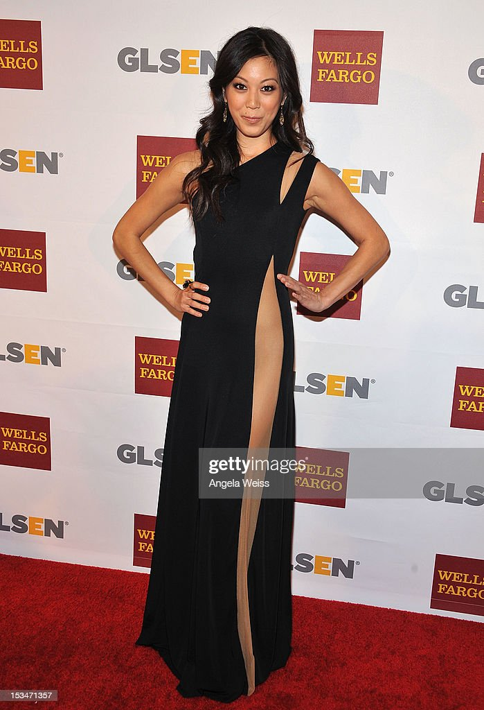 Actress Brittany Ishibashi arrives at the 8th annual GSLEN Respect Awards at Beverly Hills Hotel on October 5, 2012 in Beverly Hills, California.