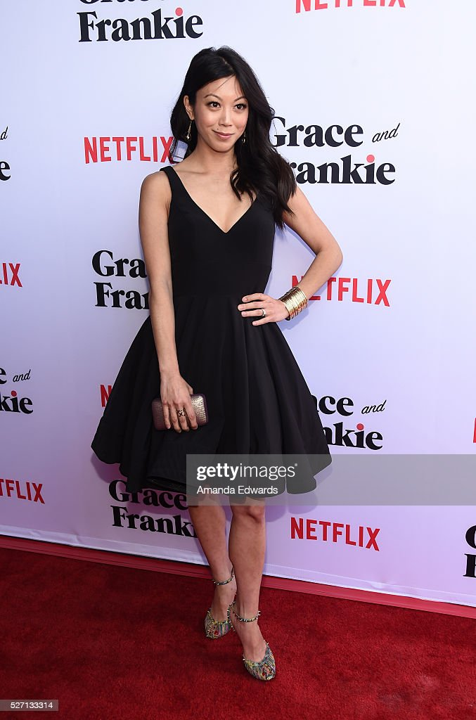 Actress Brittany Ishibashi arrives at the Netflix Original Series 'Grace & Frankie' Season 2 premiere at the Harmony Gold Theater on May 1, 2016 in Los Angeles, California.