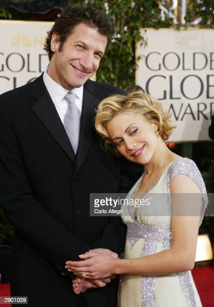 Actress Brittany Murphy and Boyfriend Jeff Kwatinetz attend the 61st Annual Golden Globe Awards at the Beverly Hilton Hotel on January 25 2004 in...