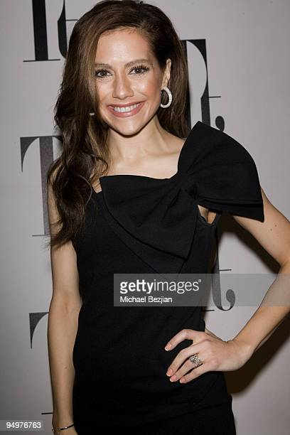 LOS ANGELES CA DECEMBER 03 Actress Brittany Murphy arrives at Tt Collection PopUp Party on December 3 2009 in Los Angeles California