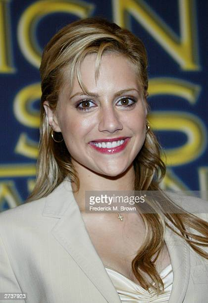 Actress Brittany Murphy speaks during the Hollywood Foreign Press Association press conference announcing Michael Douglas will be honored with the...