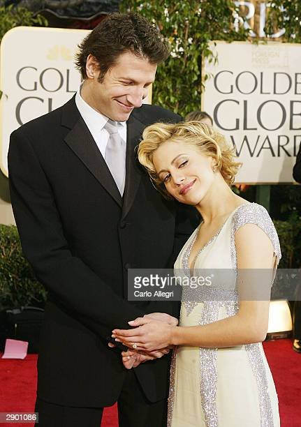 Actress Brittany Murphy with fiance talent manager Jeff Kwatinetz attends the 61st Annual Golden Globe Awards at the Beverly Hilton Hotel on January...