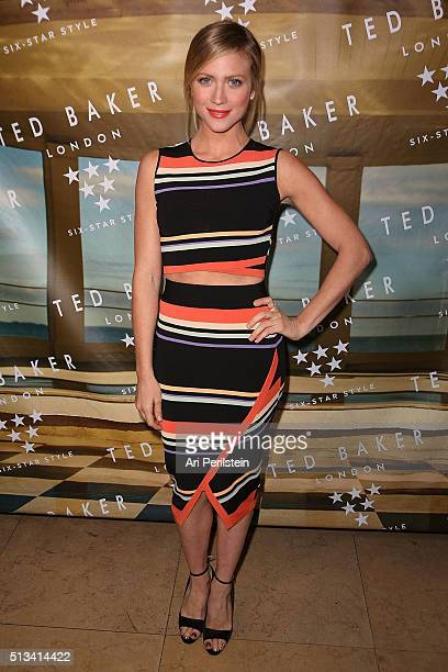 Actress Brittany Snow arrives at Ted Baker London SS'16 Launch Event at Sunset Tower Hotel on March 2 2016 in West Hollywood California