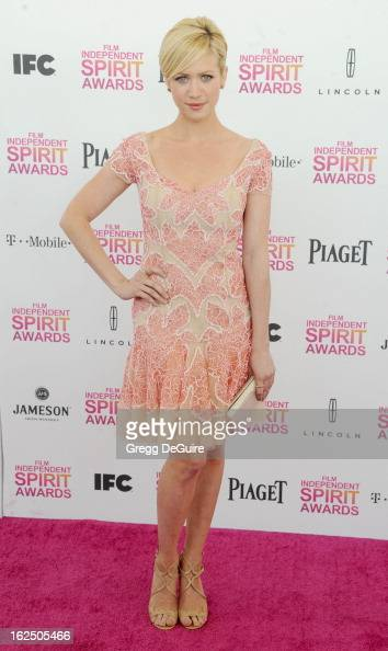 Actress Brittany Snow arrives at the 2013 Film Independent Spirit Awards at Santa Monica Beach on February 23 2013 in Santa Monica California