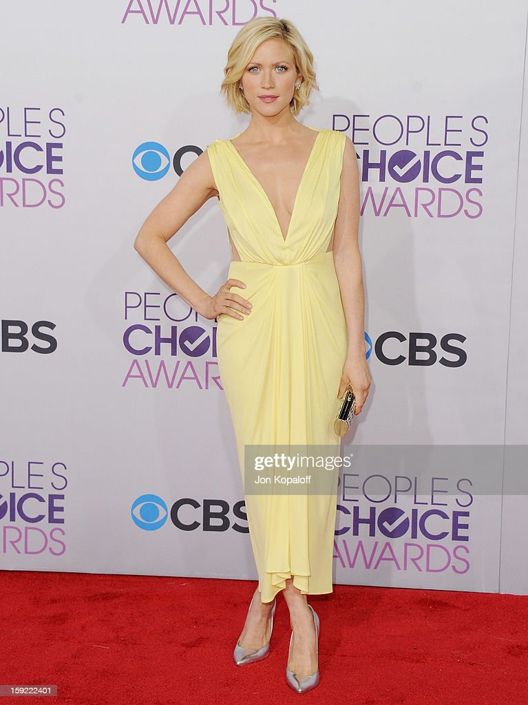 Actress Brittany Snow arrives at the 2013 People's Choice Awards at Nokia Theatre L.A. Live on January 9, 2013 in Los Angeles, California.
