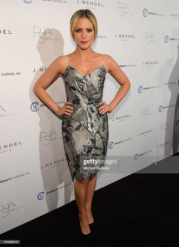 Actress Brittany Snow arrives at The 3rd Annual Autumn Party Feature a fashion show by J. Mendel Benefitting Children's Institute, Inc. at The London on October 17, 2012 in West Hollywood, California.