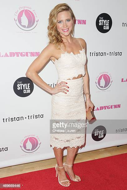 Actress Brittany Snow arrives at the Ladygunn issue launch party at The Standard Hotel on April 13 2015 in Los Angeles California