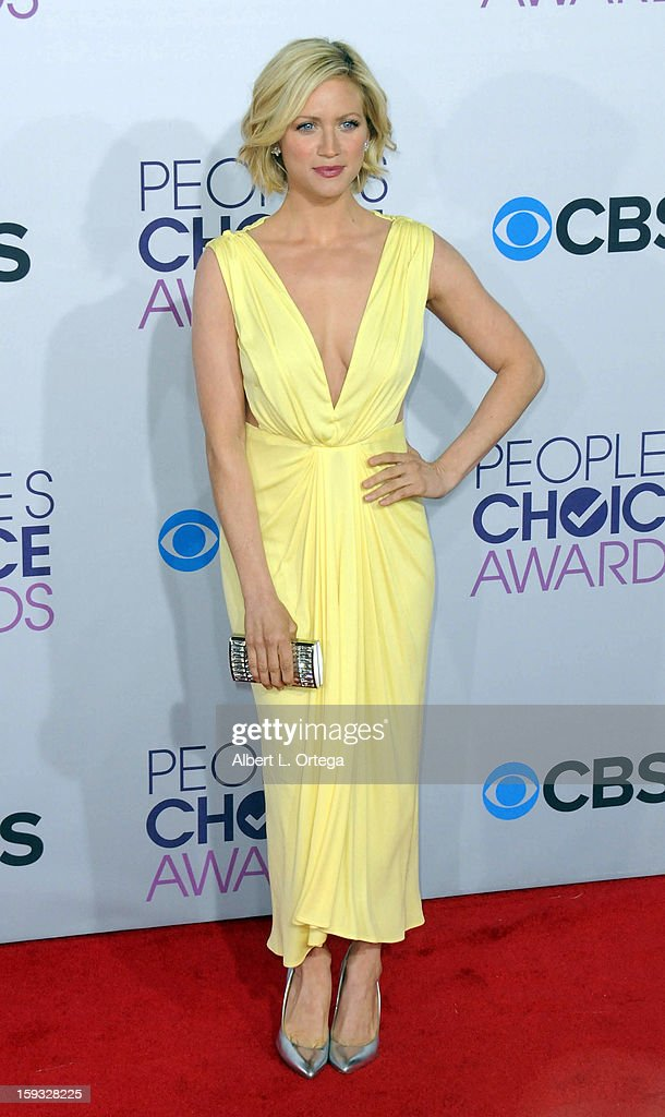 Actress Brittany Snow arrives for the 34th Annual People's Choice Awards - Arrivals held at Nokia Theater at L.A. Live on January 9, 2013 in Los Angeles, California.