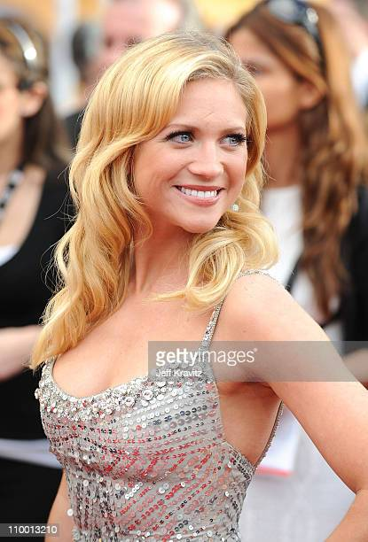 Actress Brittany Snow arrives to the 14th Annual Screen Actors Guild Awards at the Shrine Auditorium on January 27 2008 in Los Angeles California