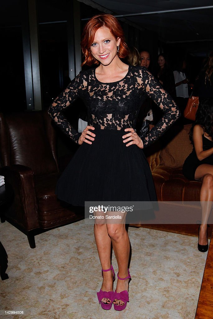 Actress <a gi-track='captionPersonalityLinkClicked' href=/galleries/search?phrase=Brittany+Snow&family=editorial&specificpeople=206624 ng-click='$event.stopPropagation()'>Brittany Snow</a> attends a celebration for Glamour's new book 'Thirty Things Every Woman Should Have and Should Know by the Time She's 30' with Cindi Leive and Rachel Zoe on April 16, 2012 in West Hollywood, California.