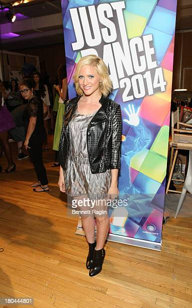 Actress Brittany Snow attends Just Dance with Boy Meets Girl at Fashion Pavilion in Chelsea on September 12 2013 in New York City
