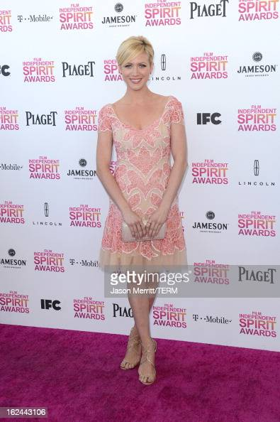 Actress Brittany Snow attends the 2013 Film Independent Spirit Awards at Santa Monica Beach on February 23 2013 in Santa Monica California