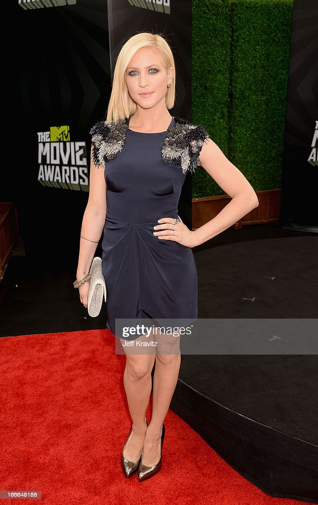 Actress Brittany Snow attends the 2013 MTV Movie Awards at Sony Pictures Studios on April 14, 2013 in Culver City, California.