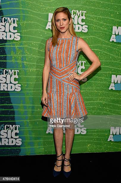 Actress Brittany Snow attends the 2015 CMT Music Awards Press Preview Day at the Bridgestone Arena on June 9 2015 in Nashville Tennessee