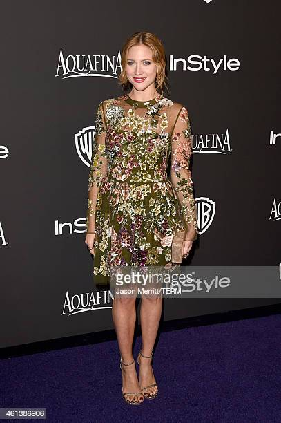 Actress Brittany Snow attends the 2015 InStyle And Warner Bros 72nd Annual Golden Globe Awards PostParty at The Beverly Hilton Hotel on January 11...