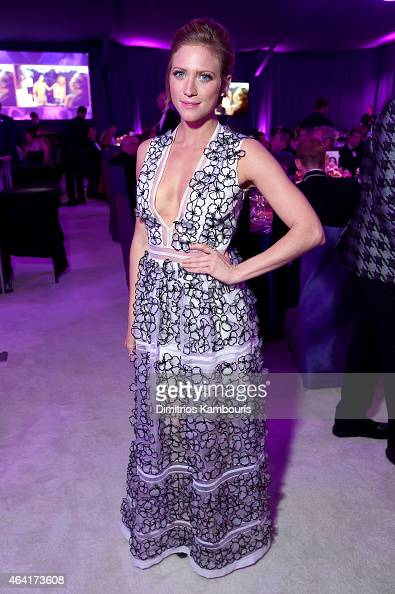 Actress Brittany Snow attends the 23rd Annual Elton John AIDS Foundation Academy Awards Viewing Party on February 22 2015 in Los Angeles California