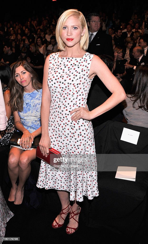 Actress Brittany Snow attends the Carolina Herrera fashion show during Mercedes-Benz Fashion Week Spring 2014 at The Theatre at Lincoln Center on September 9, 2013 in New York City.