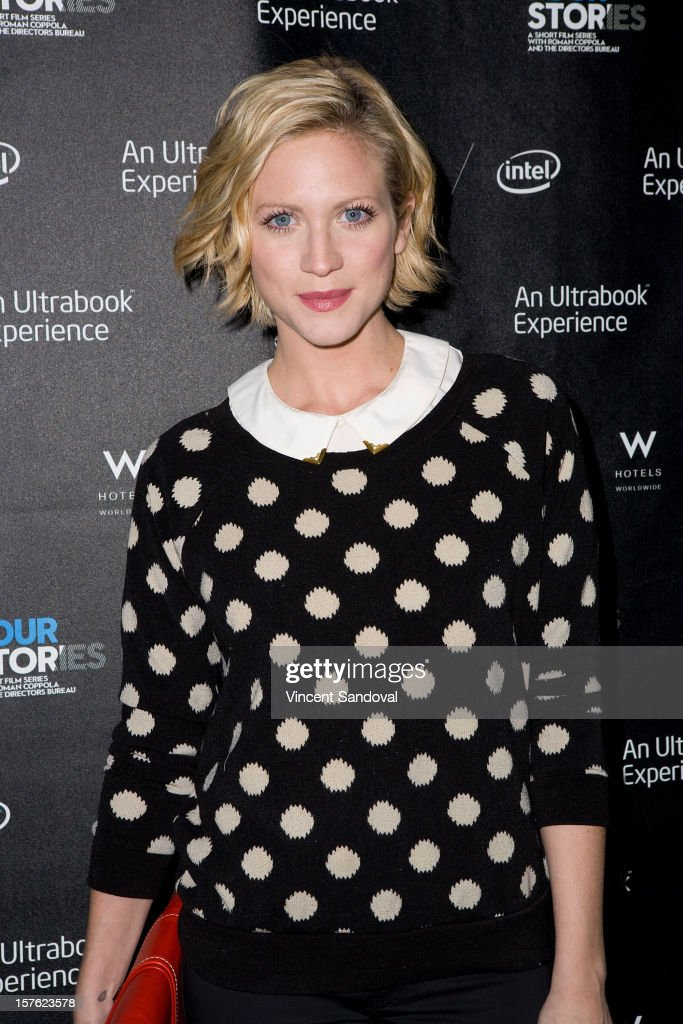 Actress Brittany Snow attends the Los Angeles Premiere of 'Four Stories' at W Westwood on December 4, 2012 in Westwood, California.