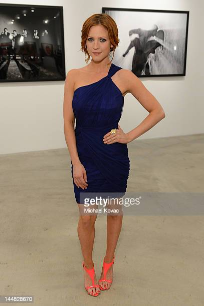 Actress Brittany Snow attends Tyler Shields debut of MOUTHFUL presented by A/X Armani Exchange in support of LOVE IS LOUDER at a Private Studio on...