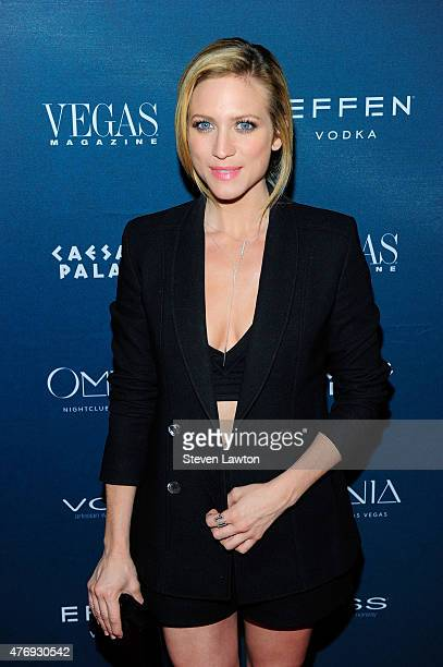 Actress Brittany Snow attends Vegas Magazine's 12th anniversary celebration at Omnia Nightclub at Caesars Palace on June 12 2015 in Las Vegas Nevada