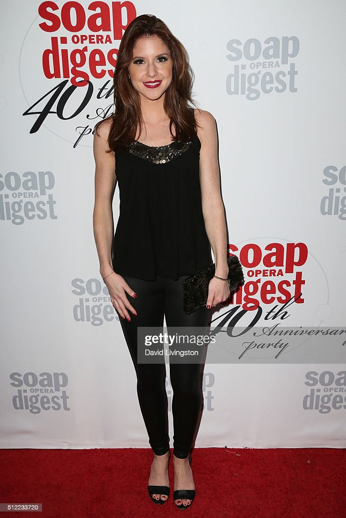 Actress Brittany Underwood arrives at the 40th Anniversary of the Soap Opera Digest at The Argyle on February 24, 2016 in Hollywood, California.