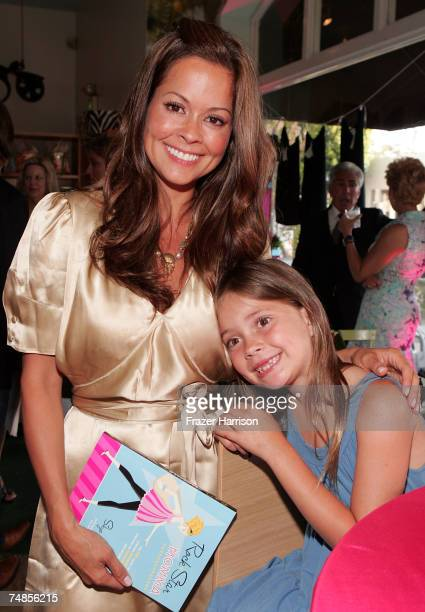 Actress Brooke Burke and daugter Meriah Fisher pose at author Skye Hoppus' ''Rock Star Momma'' Book launch party held at the TreeHouse Social Club on...