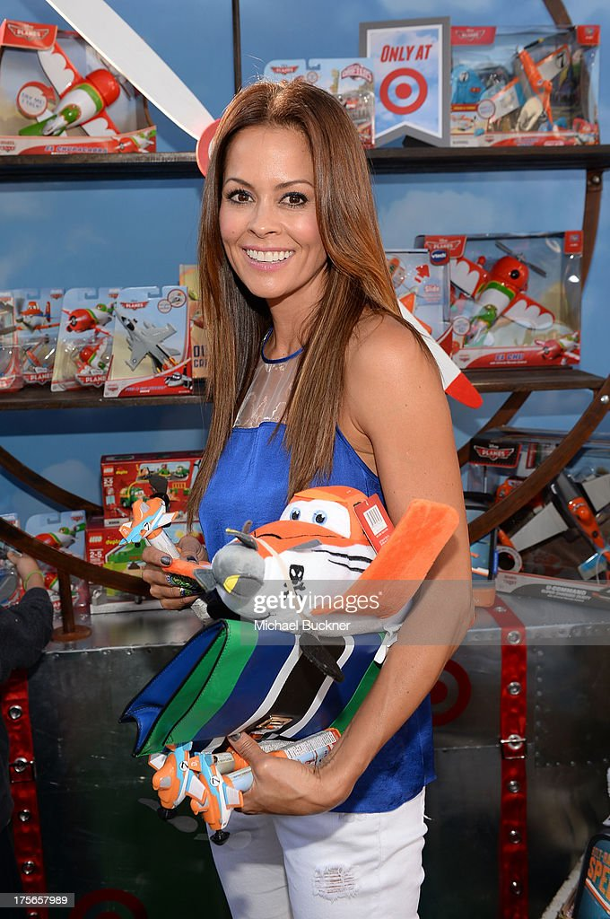 """Actress Brooke Burke Charvet attends the world-premiere of """"Disney's Planes"""" presented by Target at the El Capitan Theatre on August 5, 2013 in Hollywood, California."""