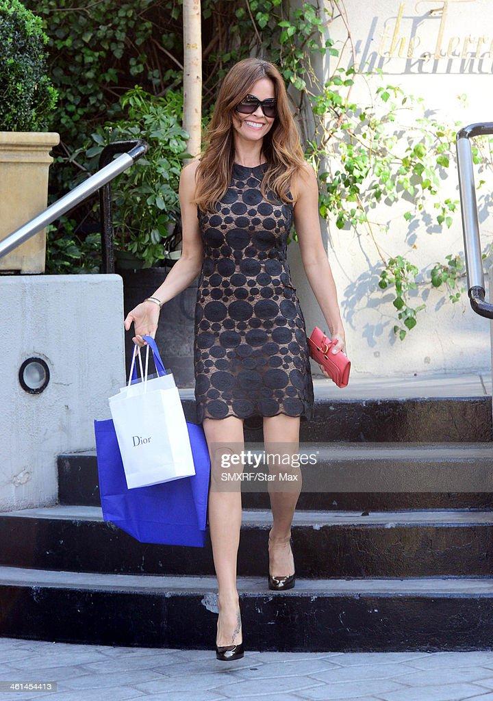 Actress Brooke Burke is seen on January 8, 2014 in Los Angeles, California.